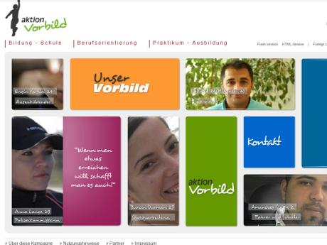 """Die Integrationskampagne """"Aktion Vorbild"""" ist online"""