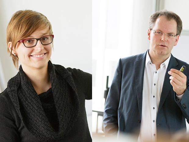 Prof. Helferich und Prof. Stork