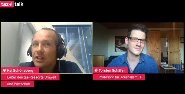 Prof. Dr. Thorsten Schäfer im Livetalk mit taz-Journalist Kai Schöneberg